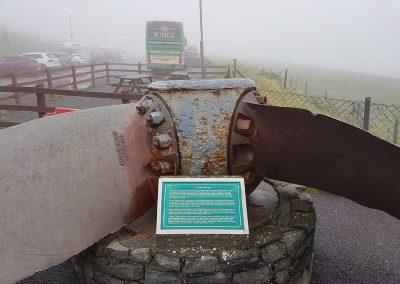 KC14 ABC in the mist at Mizen Head on the Kings Coaches Irish tour