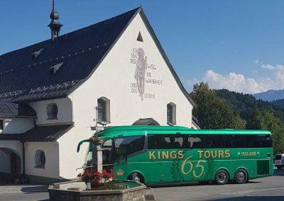 KC65 ABC outside Schwarzenberg Church on the Kings Coaches Summer Alpine Dreams tour